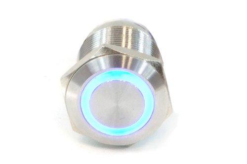 Phobya Vandalismus/Klingeltaster 19mm, blau beleuchtet, mit Schraubkontakten 6pin Wasserkühlung Überwachung