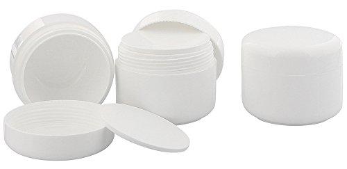 Leere Dose, Kosmetikdose weiß, 100ml Kunststoffdose, Cremedose, Kosmetex, 3 x 100 ml