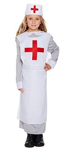 WW1 Krankenschwester Kostüm Alter von 4 -6 Jahre (Kostüm Alte Krankenschwester)
