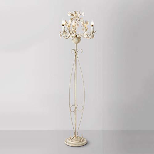 Le jardin de pays nordique fleurs lampadaire chambre salon canapé canapé lumières décoratives Lampe sur pied de salon