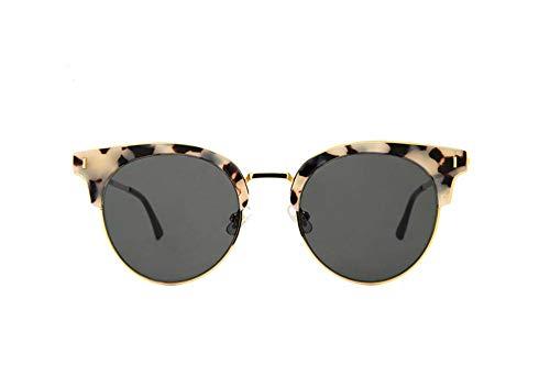 Sonnenbrille,Fashion Designer Cat Eye Sonnenbrille Frauen Die Hälfte Rim Polaroid Sonnenbrille Fahren Die Jalousien Uv400 Schwarz Linsen Leopard Grau