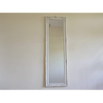 Full Length Ivory Dressing Hall Mirror Complete With