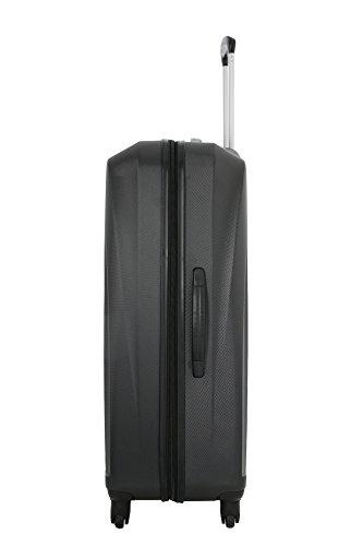 31X4SRxCzpL - 5 Cities de Carry Ligera ABS duro viaje Shell En la cabina de equipaje de mano Maleta con 4 ruedas, aprobados por Ryanair, Easyjet, British Airways, Jet2, Monarch (3PCS)
