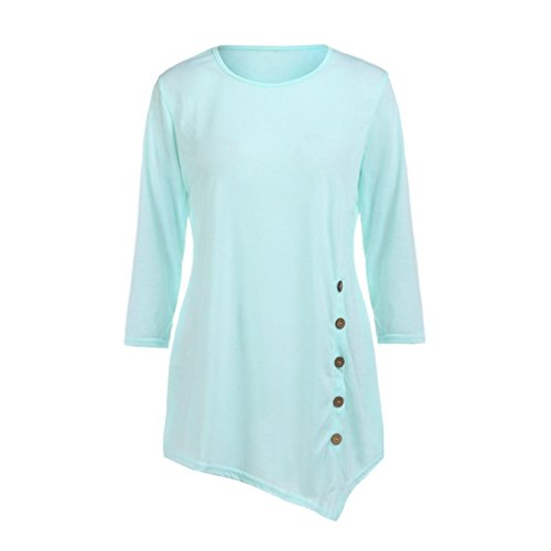 Ba Zha Blouse Camicia - Maniche Lunghe - Donna Blue