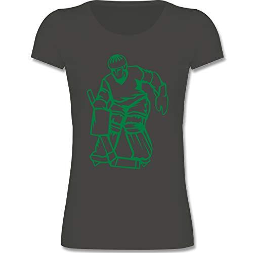 Sport Kind - Eishockey - 122-128 (7-8 Jahre) - Grau - F288K - Mädchen T-Shirt