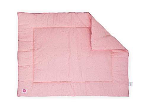 Colcha Jollein Playpen, 80 x 100 cm, diseño de lunares, color rosa, colcha de parque de juegos 80 x 100 cm, colcha de mini lunares, 80 x 100 cm, color rosa