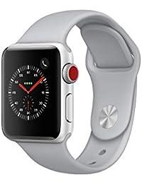Apple Watch Series 3, 38 mm, GPS + Cellular, Aluminium Gehäuse, Silber mit Sport-Armband, Nebel, 2017
