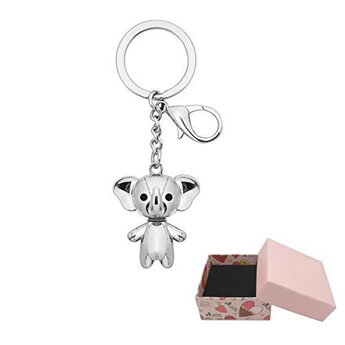 ShareCool Glücklicher Elefant Keychain Legierungs-Elefant Keychain Tierschlüsselringe für Mädchen-Frauen-Handtaschen-Charme-Zusatz