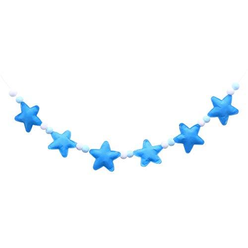 Vosarea Foto Requisiten Banner für Kinder Partyzelt Wohnaccessoires Dekorationen (blau)