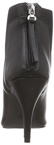 La Strada Schwarze Leder-look Stiefeletten, Bottes Classiques femme Noir (1901 - Pu Black)