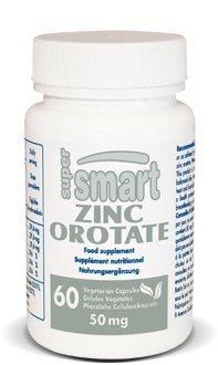 Supersmart - Minéraux - Zinc Orotate - Contenance: 75 ml - Intervient dans une multitude de processus cellulaires et enzymatiques