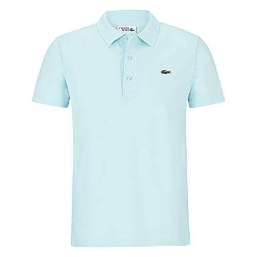 Lacoste YH4801 Herren Polo Shirt Kurzarm,Männer Polo-Hemd,3 Knopf,Slim Fit,Aquarium(F8R),X-Small (2) -