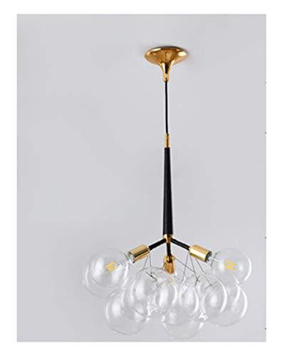 WYQSZ Sputnik Kronleuchter - Nordischer Stil Glaskugel Kreatives Licht Hauptschlafzimmer Nacht Magische Bohne Molekularer Kronleuchter - Kronleuchter 7902 - Mensch Bohne
