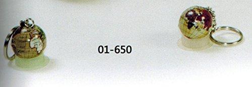 Portachiavi mappamondo metallo d.cm 3 modelli assortiti