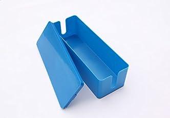 Electomania® Plastic Wire Storage Box Cable Manager Organizer Box Power Line Storage Cases Junction Box Size 28 x10 x 8 cm (Blue)