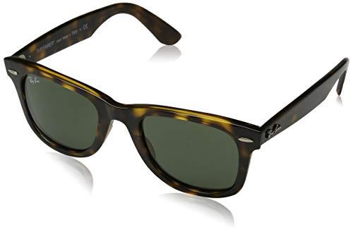 RAYBAN JUNIOR Unisex-Erwachsene Sonnenbrille Wayfarer Ease Havana/Green, 50