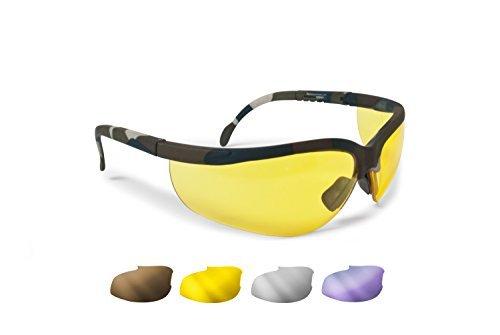 Ballistische Schutzbrille Schießbrille 4 Wechselgläser Beschlagungsfrei Bruchsicher UV Schutz...