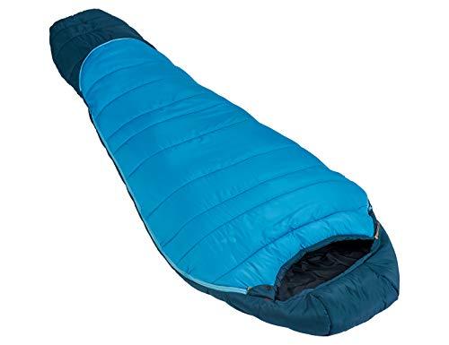 Vaude Kinder Kobel Adjust 500 SYN, längenverstellbarer Kinderschlafsack, für Größen von 130-165cm Schlafsack, Baltic sea, one Size