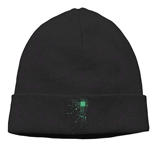 CHKWYN Momen Computer CPU Coer Heta Geek Warm Travel Black Beanies Caps Hats Chief Cpu