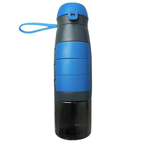 Kreative Sport-Wasserflaschen, tragbar, auslaufsicher, Kunststoff, BPA-frei 750 ml Dodger Blue
