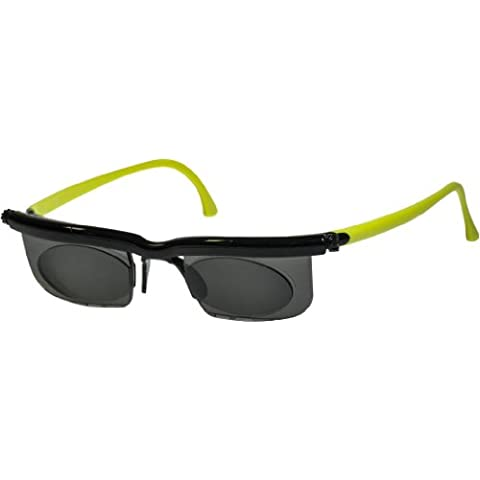 Adlens Relojes de color negro y verde Unisex variable enfoque Eyewear