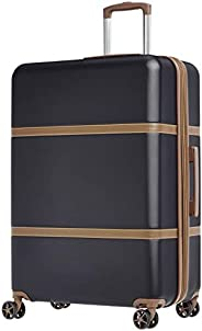 AmazonBasics Vienna Expandable Luggage Spinner Suitcase - 28 inch 78 cm, Black