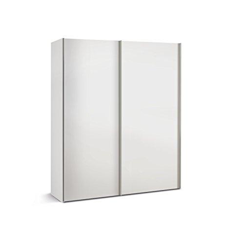 Express Möbel 34206000-070 Budget 2 2-türiger Schwebetürenschrank, Holzdekor, Weiß, Tiefe 48 cm