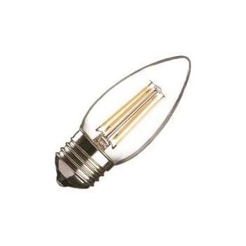 LED bombilla de filamento C35 vela E27 (rosca Edison) 3,2 W equivalente a 30 W, 3000 K, luz blanca cálida 320 Lumens, ángulo de haz 260 nivel, hasta 50.000 ...
