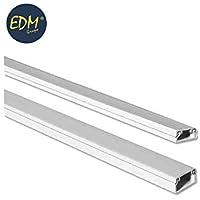 Mini canal adhesivo EDM 2mts 10/10mm (precio por barra)