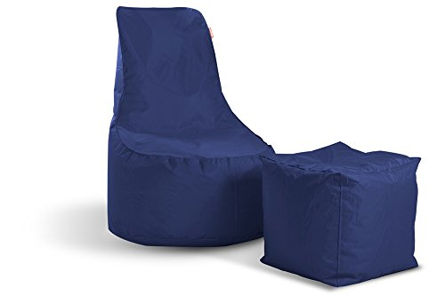 Sitzsack Indoor Outdoor 2-in-1 Hocker Set Gaming Sitzsäck Kissen für Kinder und Erwachsene Lounge...