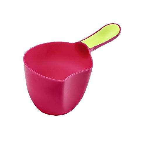 veklblan Babys Badehaube Baden Scoop Kunststoff-Wasser Scoop Babys Shampoo-Bad-Löffel Kind Wäsche-Haar-Rinse Cup Kind-Bad-Wasserfall Rinser Mini Cup Kinder Dusche Löffel Rose Red -