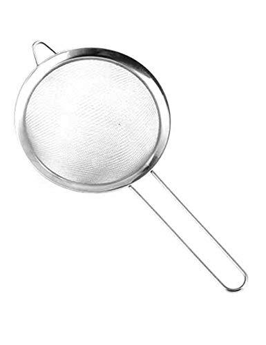 30 Mesh Edelstahl Hand Mehlsieb Küche Backen Werkzeug Zuckerpulver Sieb Backen Werkzeug Sieb (drei größen) (größe : L)