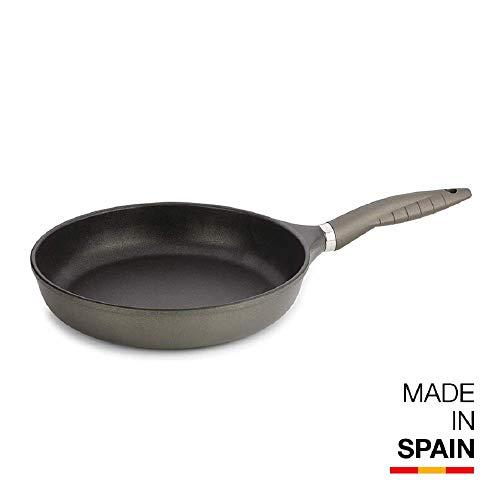 Valira Tecnoform - Sartén Premium de 24 cm hecha en España, aluminio fundido con antiadherente reforzado, no apta para inducción