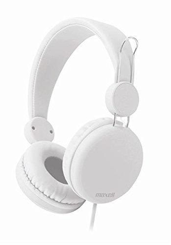 Maxell 303641 Spectrum HP Kopfhörer mit Inline Mikrofon weiß -