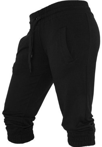 French Terry Classic Fit Pant (Urban Classics Ladies French Terry Capri TB364(L, black))
