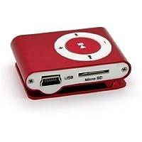 Amoy.B Tarjeta de Metal Roja Botón MP3 Sin Pantalla Reproductor de Música MP3 * 1
