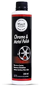 Wavex® Chrome and Metal Polish 350gm For Chrome, Copper, Brass, Bronze, Gold, Nickel and Stainless Steel. All Metal Cleaner, Polisher and Protectant.Removes oxidation and discoloration.