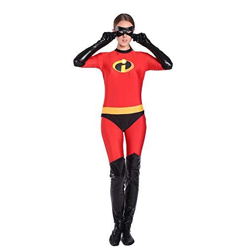 The Incredibles Kostüm Kind Erwachsener Cosplay Onesies Superhelden Halloween Mottoparty 3D Druck Strumpfhosen,Adult-L
