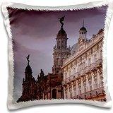 Theaters - Cuba, Gran Teatro de la Habana, Hotel Inglaterra 16x16 inch Pillow Case