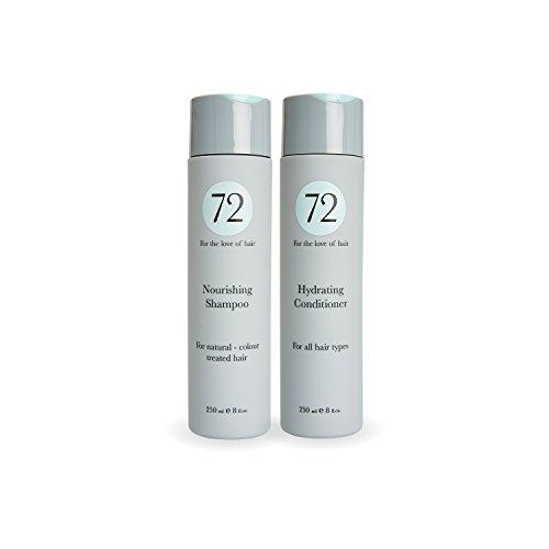 72 Hair - Pflegendes Duo, Tierversuchsfreies, veganes Shampoo und Haarspülung Set - 500ml -
