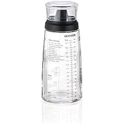 Leifheit Shaker pour vos assaisonnements, verre doseur gradué pour faire des mélanges, ustensiles de cuisine multifonctions, flacon doseur ml de 300 ml