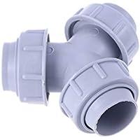 Cabilock 1 PC en forma de Y 3-3.2cm Práctico divisor de salida de conector de tubería duradera de plástico para lavadora de fregadero