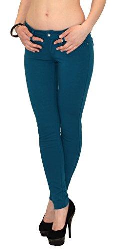 Damen Hose Röhrenhose Treggings bis Übergröße 46 48 50 in vielen Farben Petrol