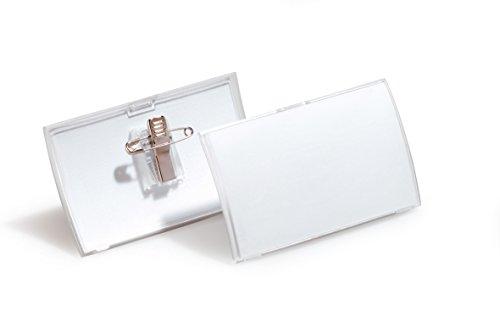 Preisvergleich Produktbild Durable 821419 Namensschild Click Fold, mit Kombiklemme, PP-Folie, 90 x 54 mm, 25 Stück