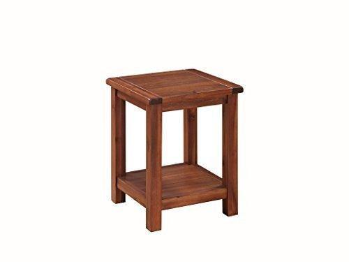 Pendleton Table d'appoint pour lampe/téléphone Table basse avec étagère Finition en chêne foncé Meuble de salle de séjour