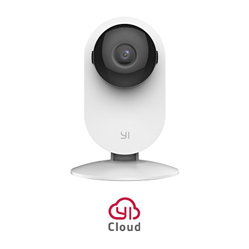 YI Home Camera 720p Wireless IP Überwachungskamera, Nachtsicht Bewegungsmelder 2-Way Audio, Haus Monitor Baby Monitor Pet Monitor, WIFI und App für Handy / PC - Weiß (Kleine Wireless-projektor)