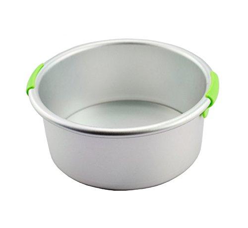 Astra Gourmet Eloxiertes Aluminium Rund Käsekuchen Pfanne mit herausnehmbarem Boden, Antihaftbeschichtung und Griff, 15,2x 7,6cm 25,4 cm silber