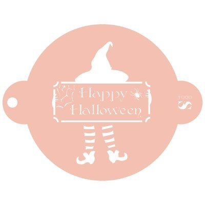 Stencil Pizzarahmen Party Halloween 012Hexe Socken. Ungefähre Maße: Aussenmaß des Stencil: 11,5x 9cm Maßnahme des Design: 7x 5,7cm