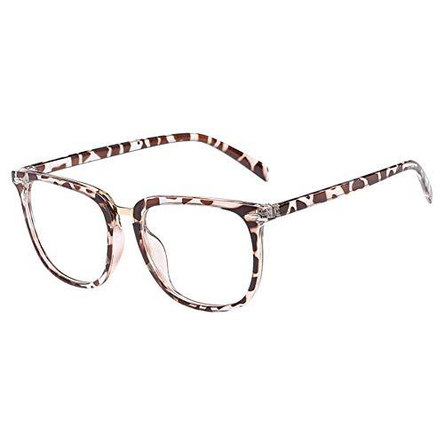 Xinvision Gewöhnliche Gläser Retro Mode Unisex Brillen Transparente Linse Groß Rahmen Brillen...