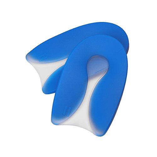 healifty 1par espolón calcáneo talón Cojín silicona gel Forma de U Heel Pad para aliviar el dolor de talón–Tamaño M